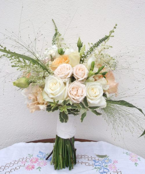 Bridal-Bouquet-Classic-Peach-White-Roses-Larkspur-Floral-Design-Cambridge-UK