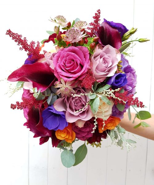 Jewel-colours-bridal-bouquet-Larkspur-Floral-Design-Florist-Cambridge-UK