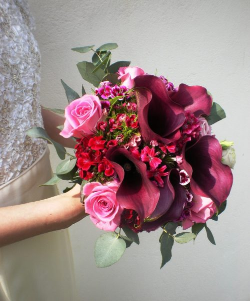 Modern-Bridal-Bouquet-Burgundy-Calla-Larkspur-Floral-Design-Cambridge-UK