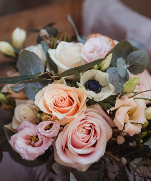 Pink-&-peach-bridal-bouquet-Larkspur-Floral-Design-Florist-Cambridge-UK