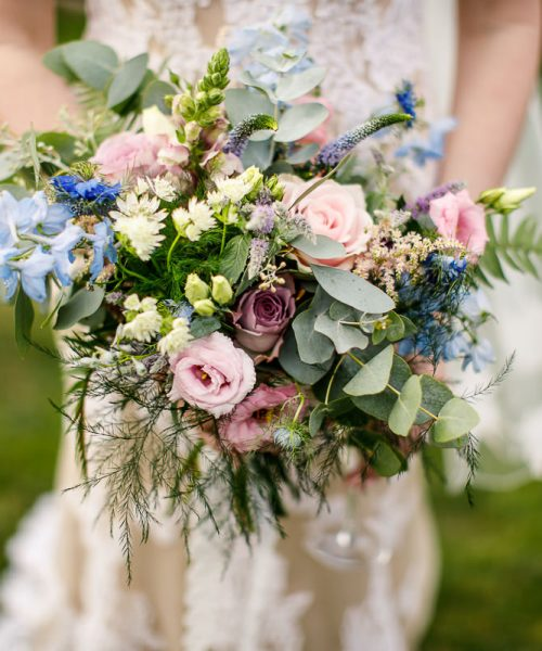 Rustic Bouquet Old Hall Ely Larkspur Floral Design Cambridge Uk