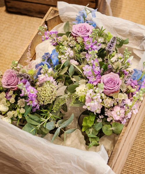 SOuth-Farm-Rustic-bouquets-lilac-powder-blue-Larkspur-Floral-Design-Florist-Cambridge-UK