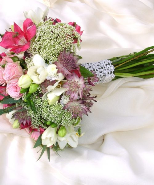Small-Bridal-Posy-Pink-White- Larkspur-Floral-Design-Cambridge-UK