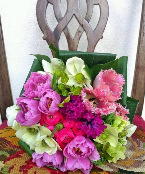 Spring modern bouquet brights