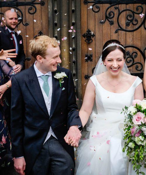 Trailing-bouqet-church-wedding-pink-white-Larkspur-Floral-Design-Florist-Cambridge-UK