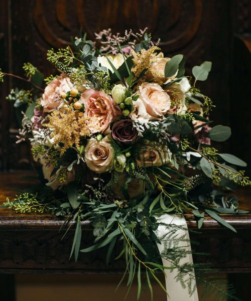 bouquet-rustic-textured-muted-colours-Larkspur-Floral-Design-Florist-Cambridge-UK