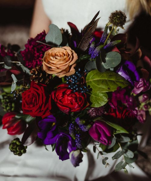 reds-purples-blues-autumnal-barn-wedding-Larkspur-Floral-Design-Florist-Cambridge-UK